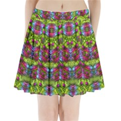 Freedom In Colors And Floral Pleated Mini Skirt