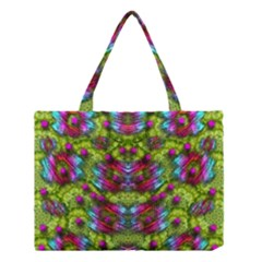 Freedom In Colors And Floral Medium Tote Bag