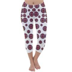 Shimmering Polka Dots Capri Winter Leggings