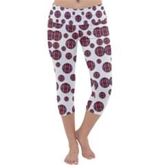 Shimmering Polka Dots Capri Yoga Leggings