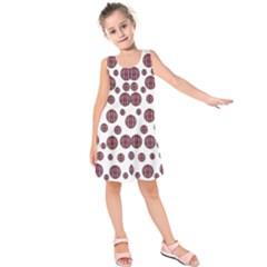 Shimmering Polka Dots Kids  Sleeveless Dress