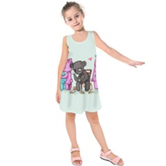 Single Bear Kids  Sleeveless Dress