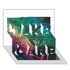 Img 20160704 210131 Take Care 3d Greeting Card (7x5)