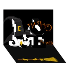 Who is a witch? LOVE 3D Greeting Card (7x5)