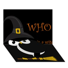 Who is a witch? Circle Bottom 3D Greeting Card (7x5)