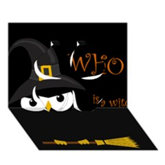 Who is a witch? Clover 3D Greeting Card (7x5)