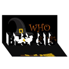 Who is a witch? BEST SIS 3D Greeting Card (8x4)
