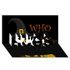 Who is a witch? HUGS 3D Greeting Card (8x4)