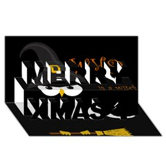 Who is a witch? Merry Xmas 3D Greeting Card (8x4)