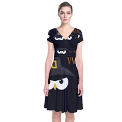 Who is a witch? Short Sleeve Front Wrap Dress