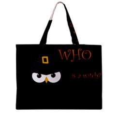 Who Is A Witch? Medium Zipper Tote Bag