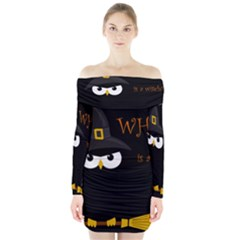 Who is a witch? Long Sleeve Off Shoulder Dress