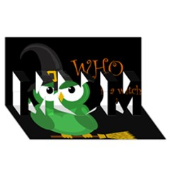 Who is a witch? - green MOM 3D Greeting Card (8x4)