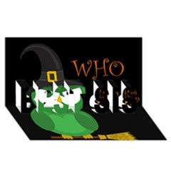 Who is a witch? - green BEST SIS 3D Greeting Card (8x4)