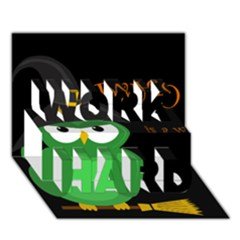 Who is a witch? - green WORK HARD 3D Greeting Card (7x5)