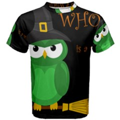 Who is a witch? - green Men s Cotton Tee