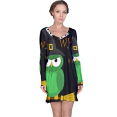 Who is a witch? - green Long Sleeve Nightdress