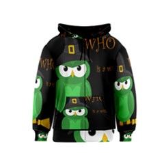 Who is a witch? - green Kids  Zipper Hoodie