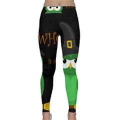 Who is a witch? - green Classic Yoga Leggings