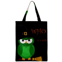 Who is a witch? - green Zipper Classic Tote Bag