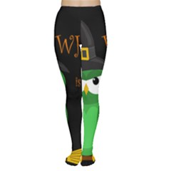 Who is a witch? - green Women s Tights