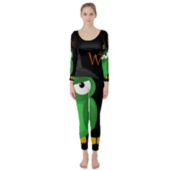 Who is a witch? - green Long Sleeve Catsuit