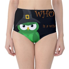 Who is a witch? - green High-Waist Bikini Bottoms