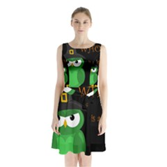 Who Is A Witch?   Green Sleeveless Chiffon Waist Tie Dress