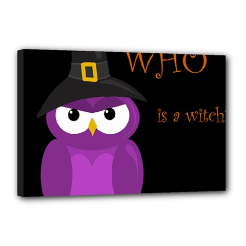 Who is a witch? - purple Canvas 18  x 12