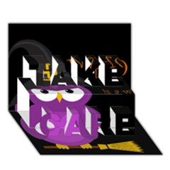 Who is a witch? - purple TAKE CARE 3D Greeting Card (7x5)