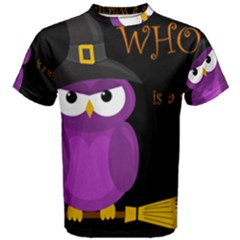 Who is a witch? - purple Men s Cotton Tee