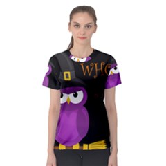 Who is a witch? - purple Women s Sport Mesh Tee