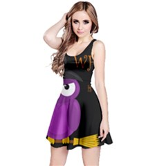 Who is a witch? - purple Reversible Sleeveless Dress