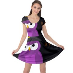 Who is a witch? - purple Cap Sleeve Dresses