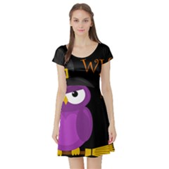 Who is a witch? - purple Short Sleeve Skater Dress