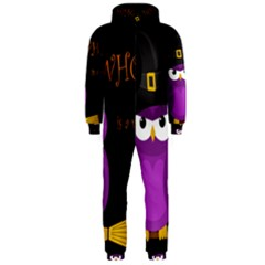 Who is a witch? - purple Hooded Jumpsuit (Men)