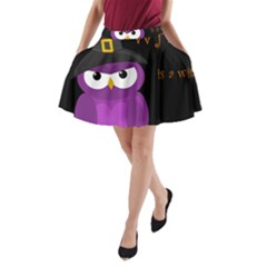 Who is a witch? - purple A-Line Pocket Skirt