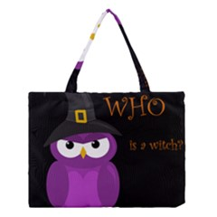 Who Is A Witch?   Purple Medium Tote Bag