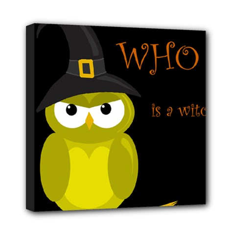 Who is a witch? - yellow Mini Canvas 8  x 8