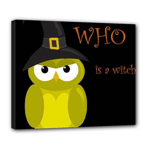 Who is a witch? - yellow Deluxe Canvas 24  x 20