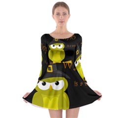 Who is a witch? - yellow Long Sleeve Skater Dress
