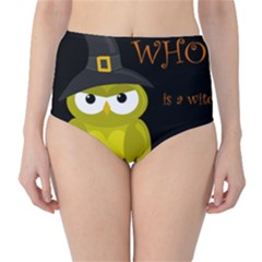 Who is a witch? - yellow High-Waist Bikini Bottoms