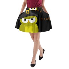 Who is a witch? - yellow A-Line Pocket Skirt