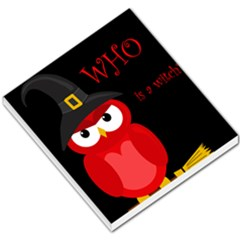 Who is a witch? - red Small Memo Pads
