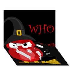 Who Is A Witch?   Red Love Bottom 3d Greeting Card (7x5)