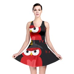 Who is a witch? - red Reversible Skater Dress