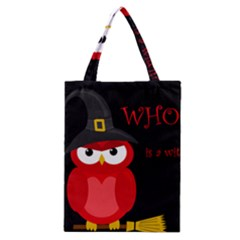 Who is a witch? - red Classic Tote Bag