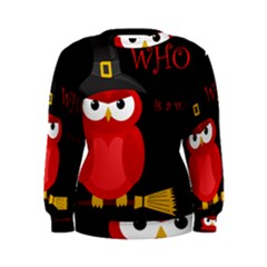 Who is a witch? - red Women s Sweatshirt