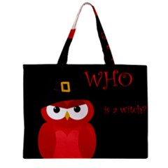 Who is a witch? - red Zipper Mini Tote Bag
