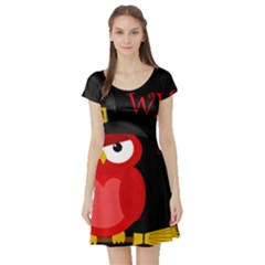 Who is a witch? - red Short Sleeve Skater Dress